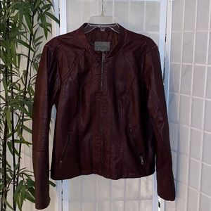 Maurices Deep Wine Faux Leather Jacket